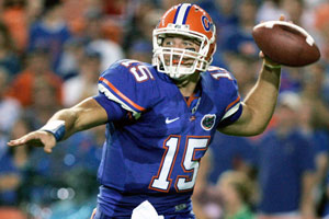 Tim Tebow was part of two national title teams and won the Heisman Trophy during his time at Florida.