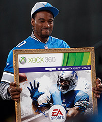 Calvin Johnson is all smiles despite the myth of the Madden