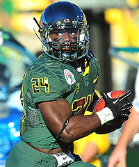 Kenjon Barner has averaged 6.1 yards per carry during his time at Oregon.