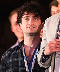 Daniel Radcliffe, best known for his work as Harry Potter, was spellbound by the first-round action at the 2012 NFL Draft.