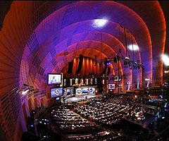 Things at the NFL draft are considerably quieter at Radio City on Day 3.