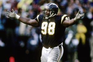 Defensive tackle Shawn Lee is one of eight members of the Chargers' 1994 AFC title team to have died.