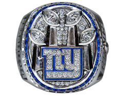 One ring to rule them all: The Giants' Super Bowl XLVI jewelry has received high praise from Big Blue's roster.