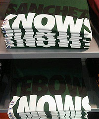 Whether you're in the Sanchez or Tebow camp, there's a shirt for you.