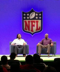Adam Jones and Terrell Owens addressed AFC rookies Thursday during the rookie symposium. (National Football League)