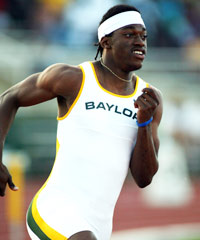 Robert Griffin III earned All-America honors on the Baylor track team.