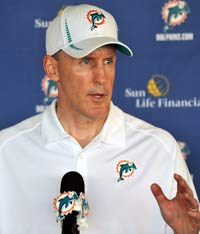 Miami Dolphins coach Joe Philbin went out of his way to correct a reporter who called him a
