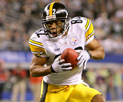 Antwaan Randle El is the only wide receiver to throw a touchdown pass in a Super Bowl. He connected with Hines Ward in the Steelers' Super Bowl XL win.