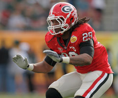 Georgia's Jarvis Jones recorded four sacks against rival Florida last season.