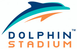 Might a new Dolphins logo for 2013 look similar to the old logo for Dolphin Stadium (above)? The Palm Beach Post reports that the team is discussing a logo and color change, and that the new logo could reflect the old stadium logo.