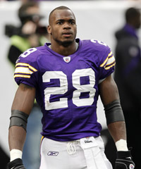 Minnesota Vikings running back Adrian Peterson appeared in a Texas court Friday after a Saturday arrest in Houston on a charge of resisting arrest.