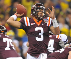 Logan Thomas is reminiscent of rising star Cam Newton. (Patrick Green/Associated Press)