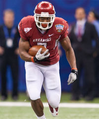 Arkansas RB Knile Davis missed the entire 2011 campaign after breaking his ankle in an August scrimmage.