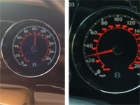 Greg Hardy's speedometer (left) reads 100mph. Steve Smith's (right) comes in at a glacial pace of 30 mph.