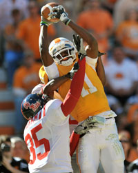 Justin Hunter should enjoy another productive season at Tennessee, catching balls from vaunted NFL QB prospect Tyler Bray.