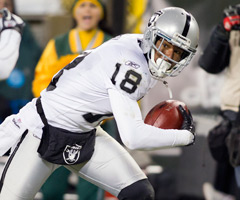 Louis Murphy was traded from the Oakland Raiders to the Carolina Panthers on Monday.