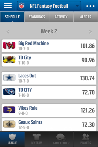 NFL Fantasy Football Mobile Screenshot 1