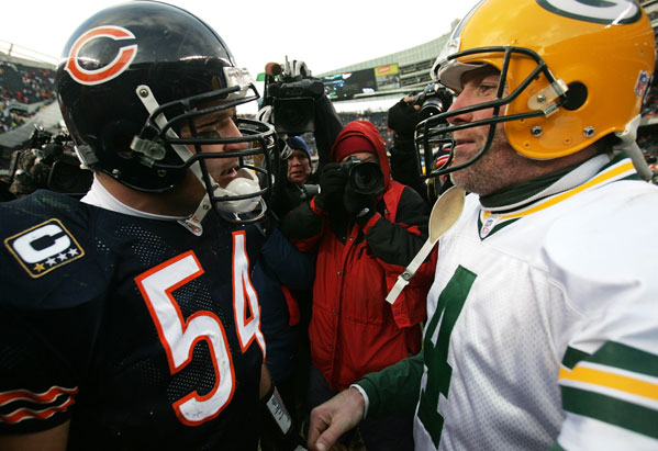 Brian Urlacher and Brett Favre