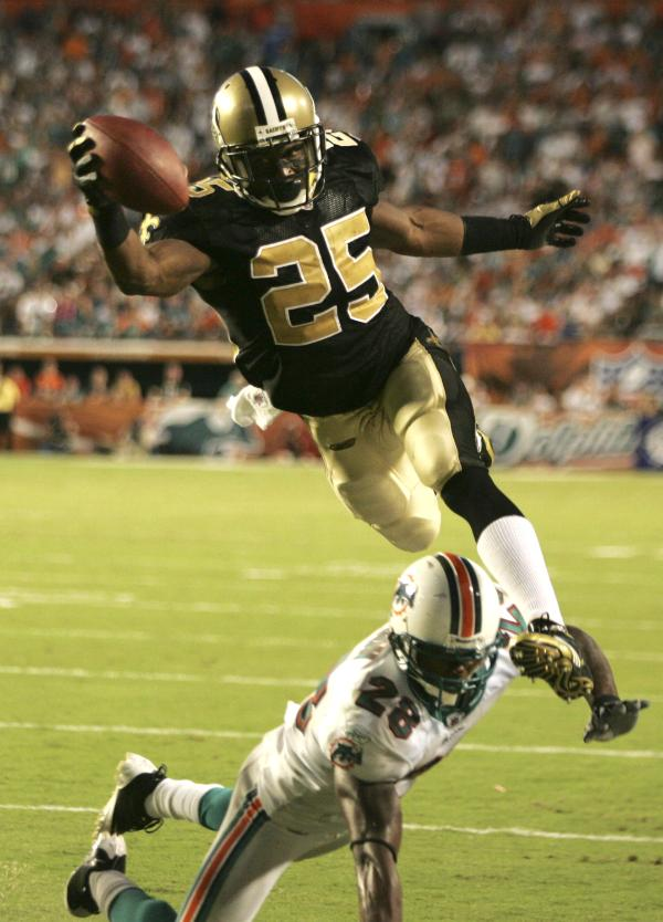 Reggie and the Saints are flying