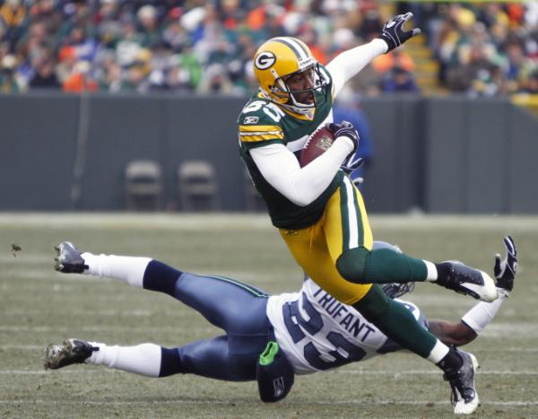 The Seahawks secondary had trouble keeping up with Greg Jennings
