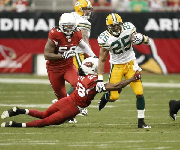 Ryan Grant and the Packers have run over, around and through the Cardinals