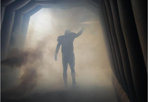 Cam Newton is introduced before the Panthers take on the Buccaneers.