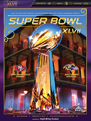 Super Bowl XLVII Game Program Screenshot 1