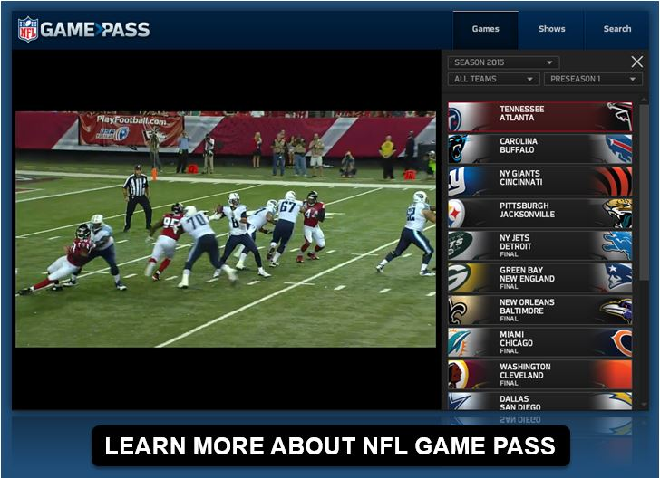 live streaming nfl games bet on football