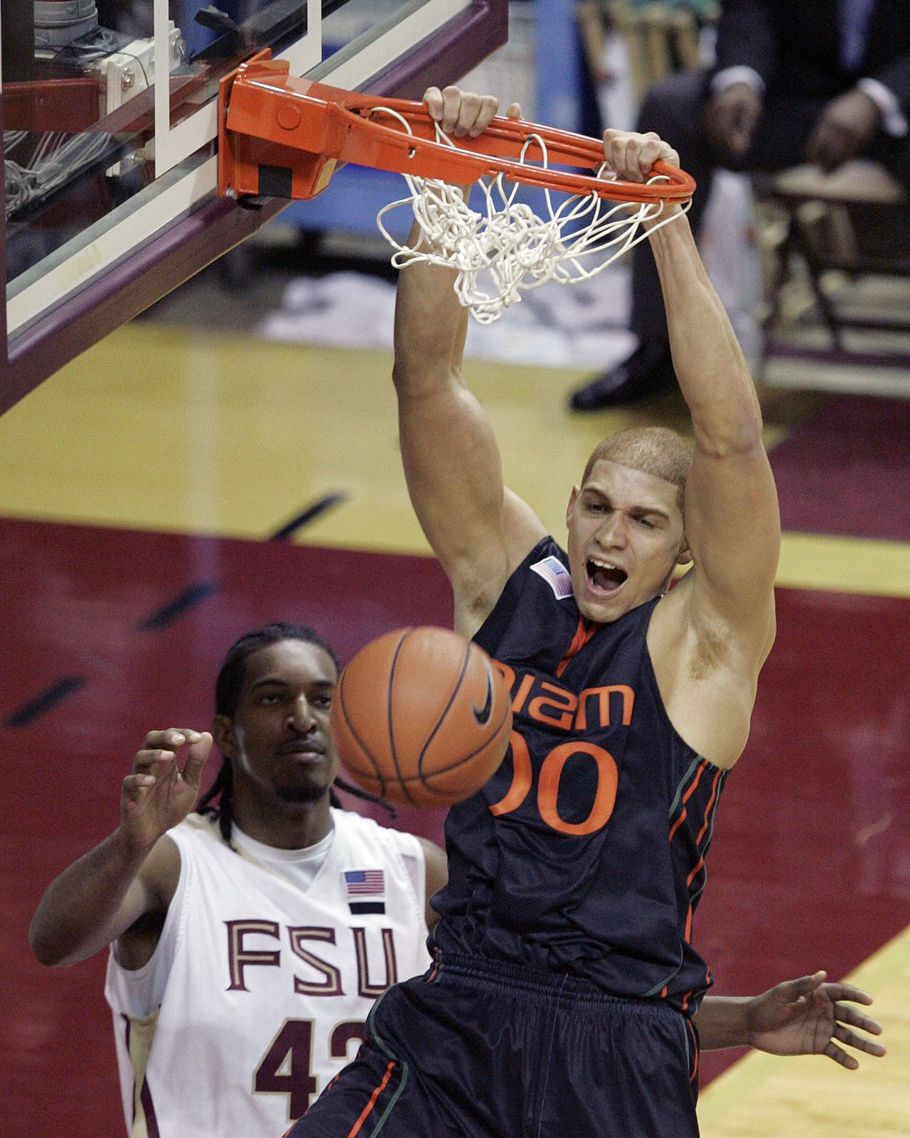 Before he was drafted by the New Orleans Saints in 2010, TE Jimmy Graham had only played one season of football at Miami, but spent four years on the basketball team and went to the NCAA Tournament in 2008 and 2009.