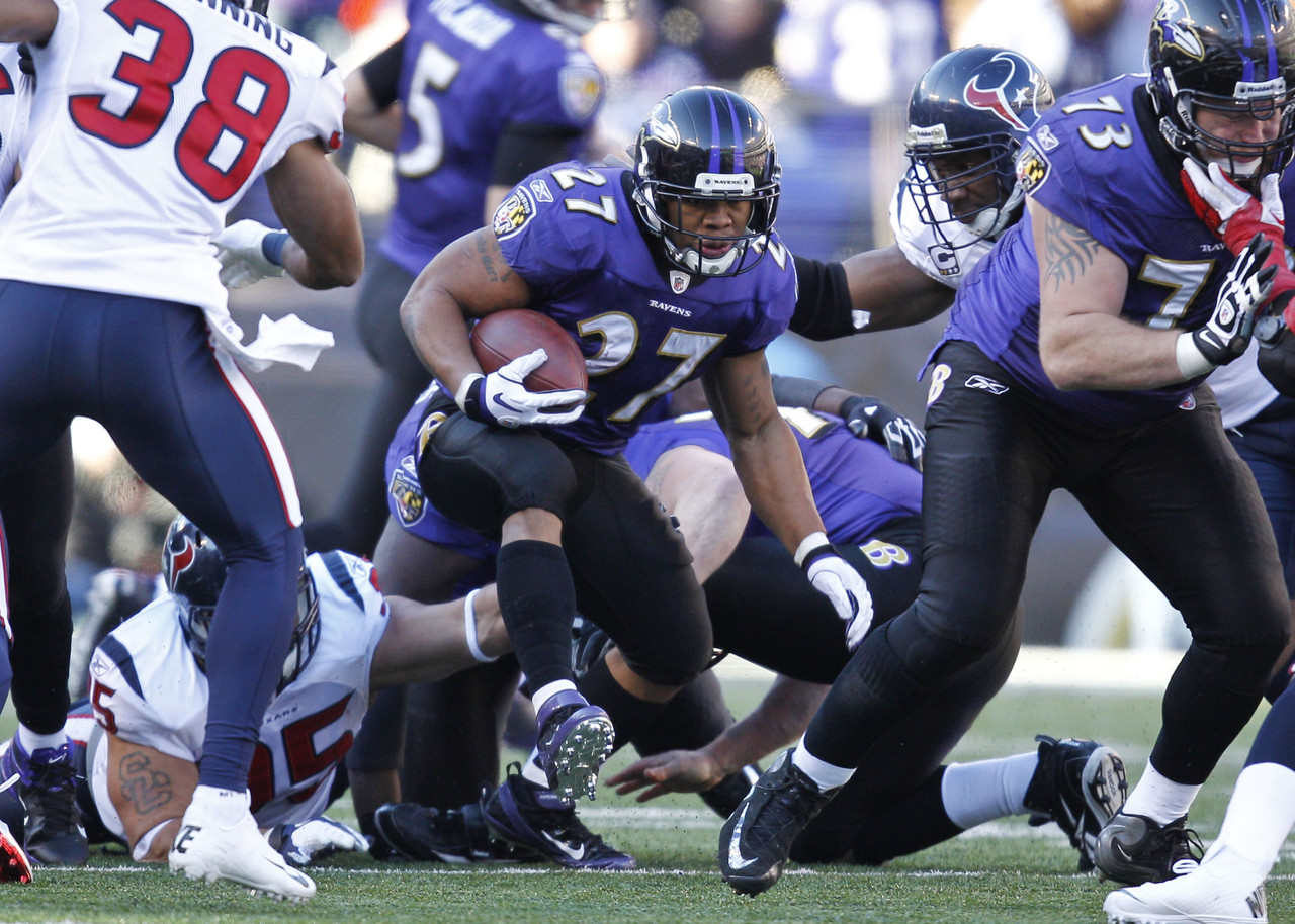 Ravens running back Ray Rice will be a contender for the NFL MVP this season, and he'll get off to a quick start against the Eagles, Patriots, Browns and Chiefs - four teams which finished near the bottom in rush defense in 2011. Rice will end up with the rushing title.