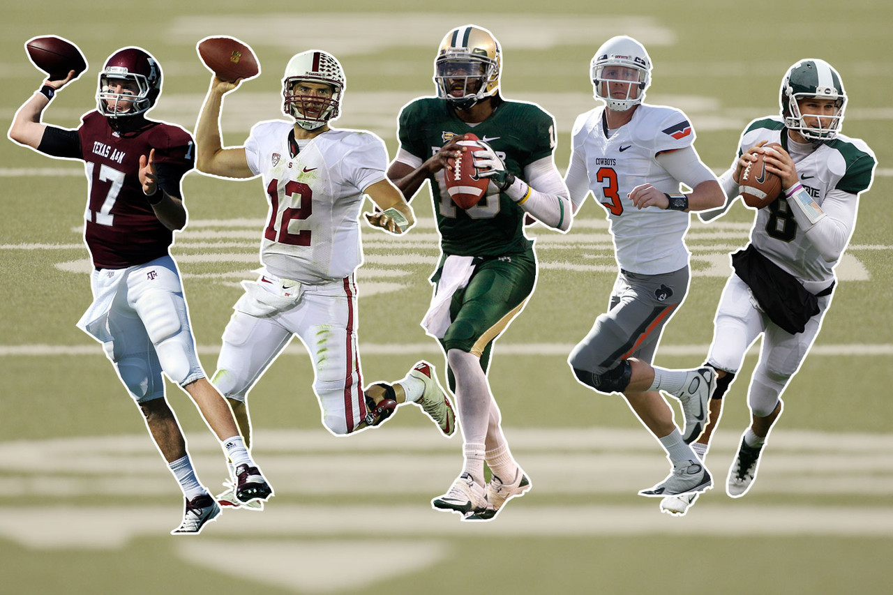 Ryan Tannehill, Texas A&M<br> Andrew Luck, Stanford <br> Robert Griffin III, Baylor<br> Brandon Weeden, Oklahoma State<br> Kirk Cousins, Michigan State<br><br> Andrew Luck has long been considered the top option for the Colts. ... The Redskins paid a heavy price to trade for the No. 2 pick in the draft so that they can select Robert Griffin III. ... Ryan Tannehill has shot up the draft boards of quarterback-starved teams. ... Brandon Weeden is a hot prospect, but many teams are wary of his age (28). ... Kirk Cousins has impressed scouts with his skills and will be considered in the middle rounds.