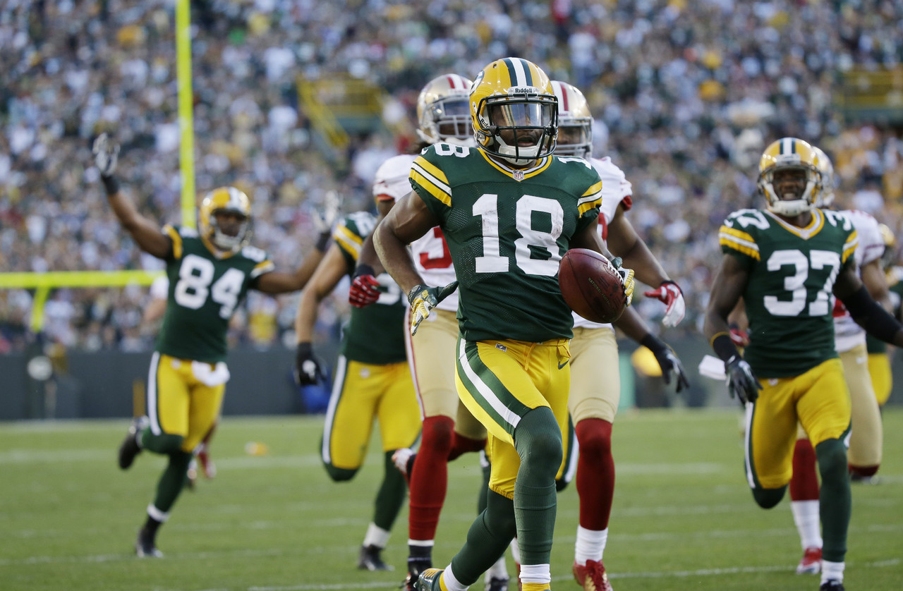 1. Randall Cobb, WR, Green Bay Packers (96.8 percent):