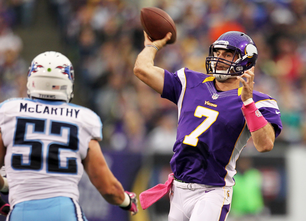 1. Christian Ponder, QB, Minnesota Vikings (86.1 percent):