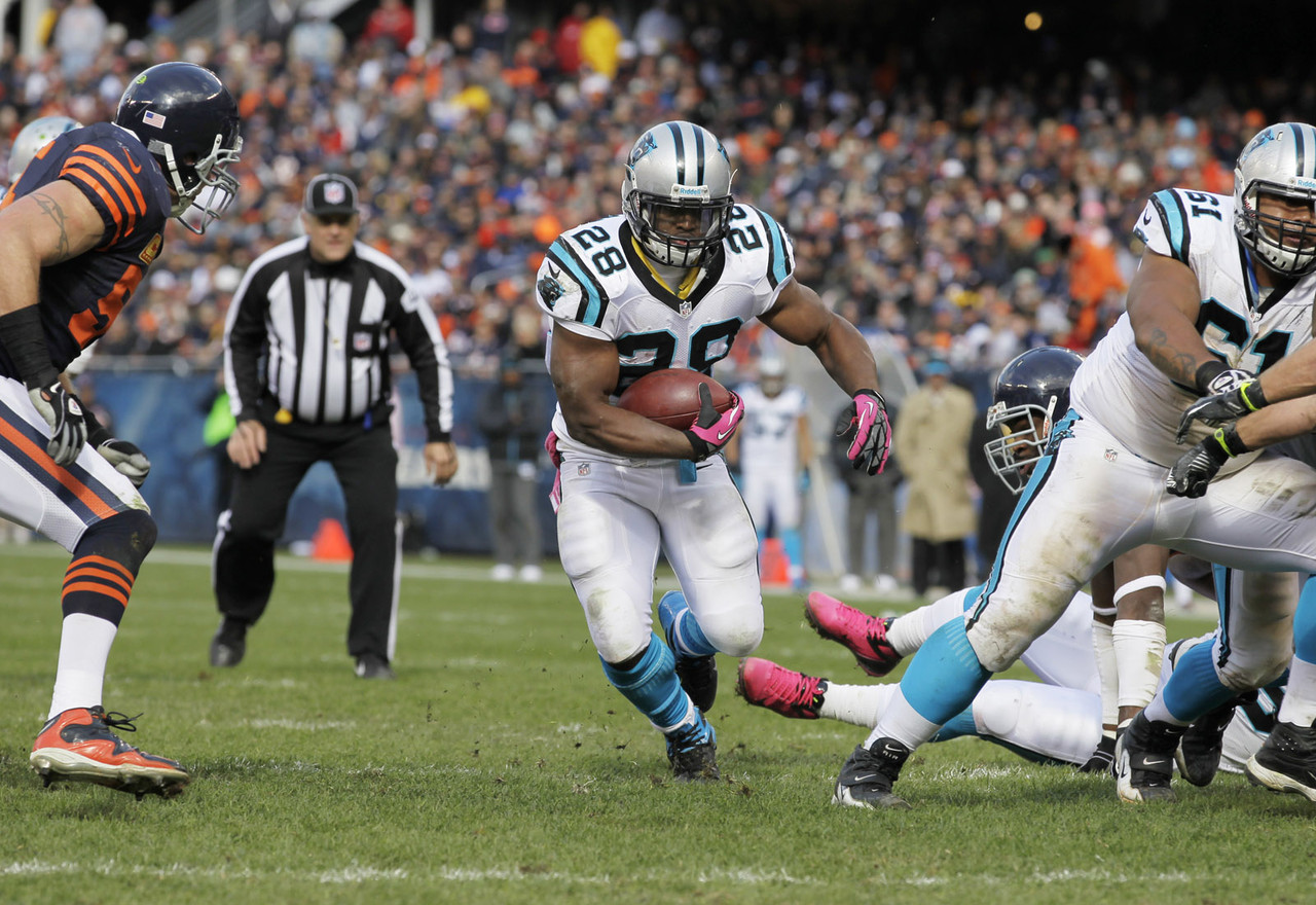 Reports out of Carolina suggest the Panthers are listening to trade offers for veteran runner DeAngelo Williams, which means Stewart could be in line for a greater role in the backfield. Regardless, the Oregon product should still see more work on offense whether or not Williams remains on the roster. (Michael Conroy/Associated Press)