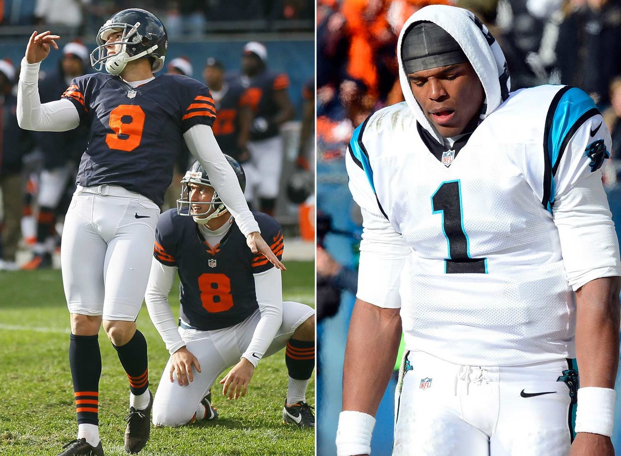 Robbie Gould became the latest NFL player to steal a win from Cam Newton. His 41-yard field goal as time expired guarantees Newton will keep the suggestion box around a little  longer. (Associated Press/US Presswire)