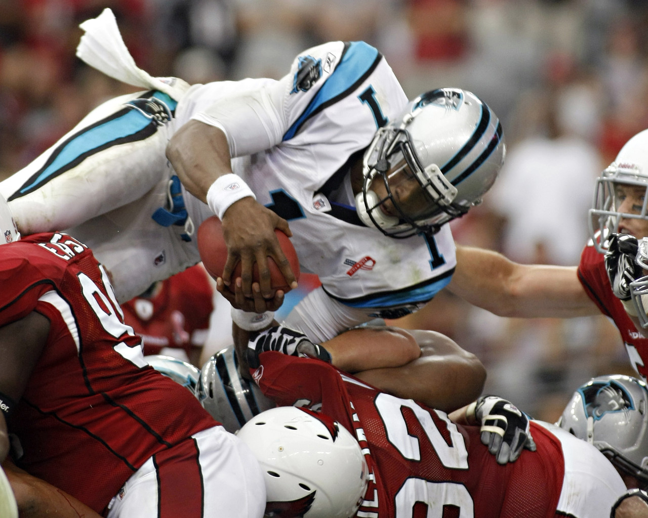 15. Cam Newton vs Arizona Cardinals - Sept. 11, 2011