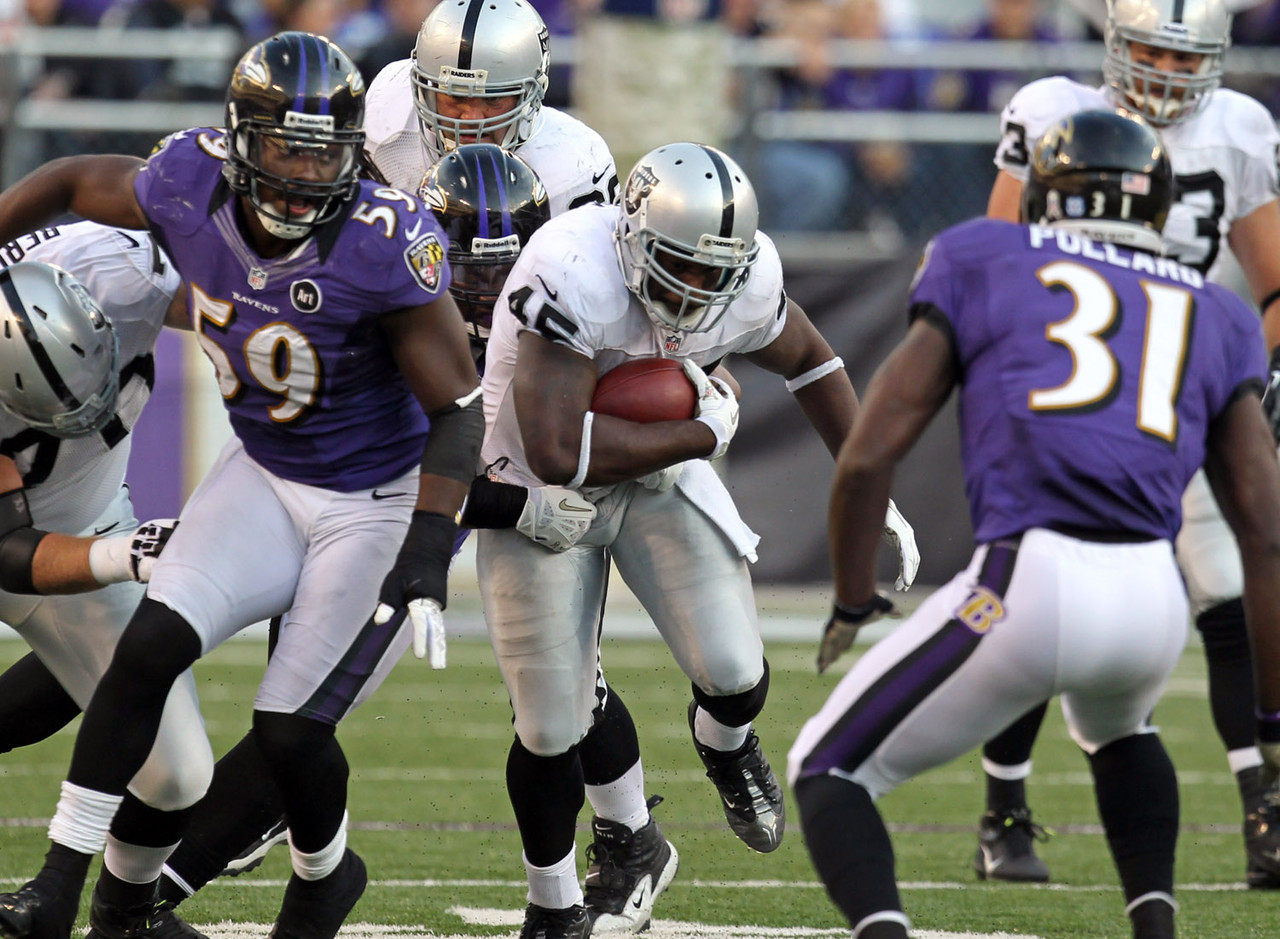 1. Marcel Reece, RB, Oakland Raiders (76.8 percent):