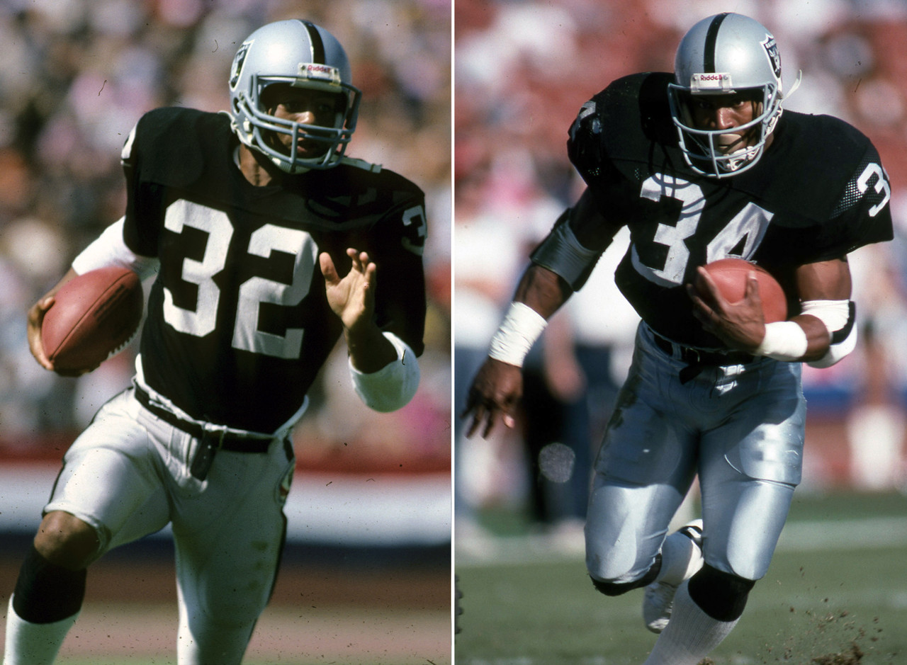 Marcus Allen and Bo Jackson (Los Angeles Raiders)