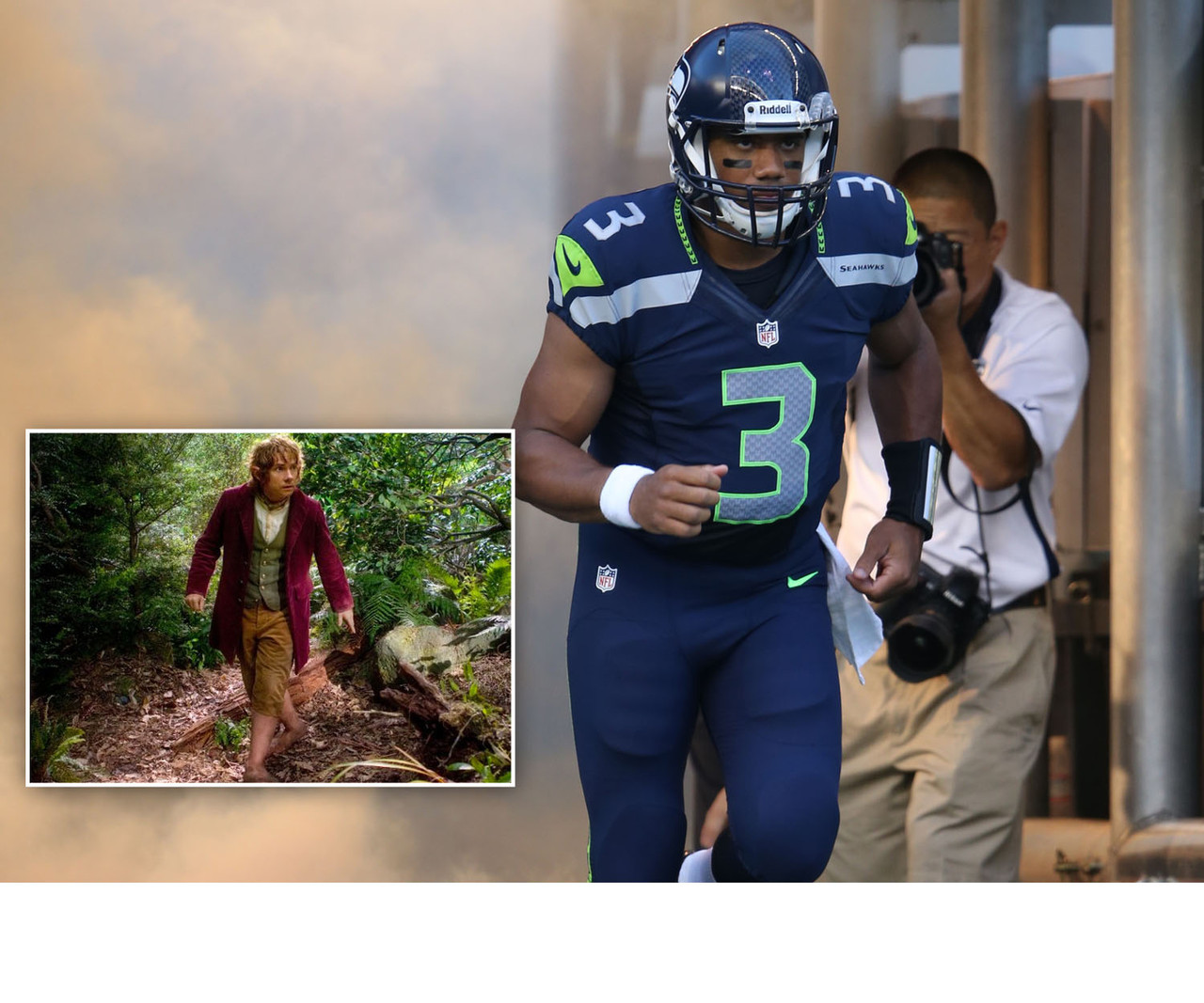 "Going along with our awesome trailer mash-up, Russell Wilson would indeed be Bilbo Baggins. Plucked from relative obscurity, and forced into a leading role on an unlikely journey? The parallels between Wilson and Bilbo aren't hard to find. Not to mention they're both ""undersized"" for such a journey, according to some."