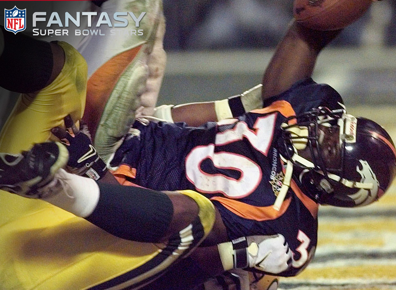 Despite the effects of a migraine headache in the first quarter, Davis was able to put the Broncos on his shoulders and lead them to a 31-24 win over the Green Bay Packers. He rushed for 157 yards with a Super Bowl record three touchdowns and scored 34.5 fantasy points, the most of any player at his position. Davis was awarded MVP honors.