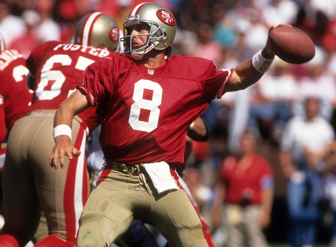Steve Young gets the monkey off his back