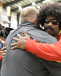 Leon Sandcastle visits the Kansas City Chiefs Facility