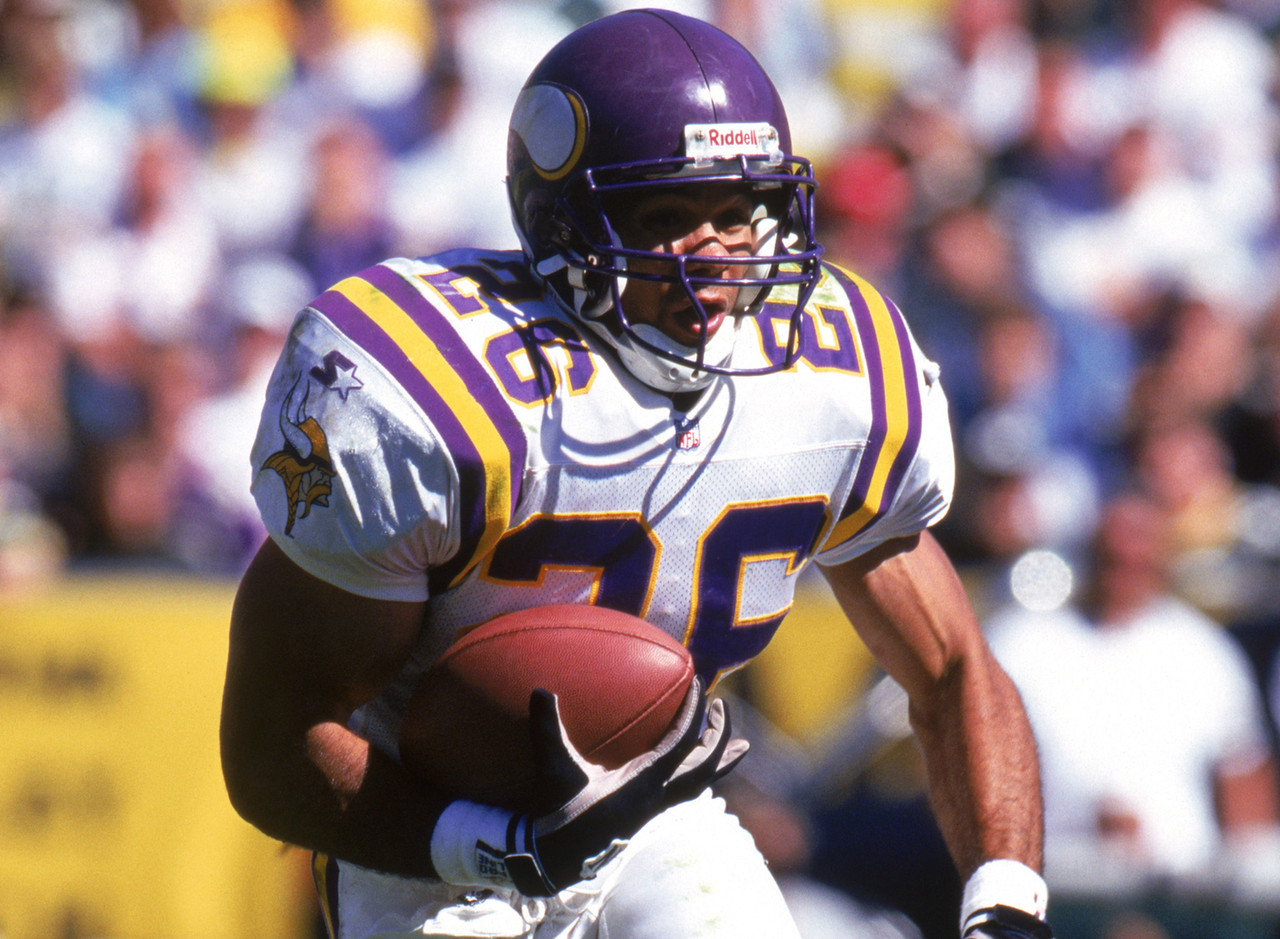 Smith was on the verge of having a long, prolific career, but he chose to walk away to study medicine. He retired as the Minnesota Vikings' all-time leading rusher. He's since been eclipsed by some dude named Peterson or something. (AP Photo/David Stluka)
