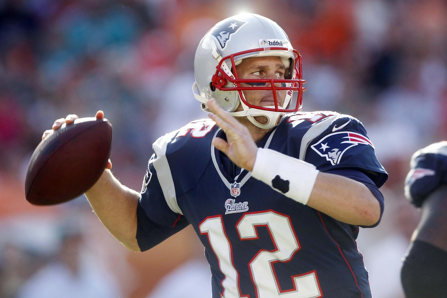 2000 NFL Draft, sixth round, New England Patriots -- Brady has played 13 seasons for the Patriots (2000-2012. He has led the Patriots to five Super Bowls, winning three and claiming game MVP honors in two of those Super Bowl wins. Brady is an eight-time Pro Bowl selection. (AP Photo/John Bazemore)