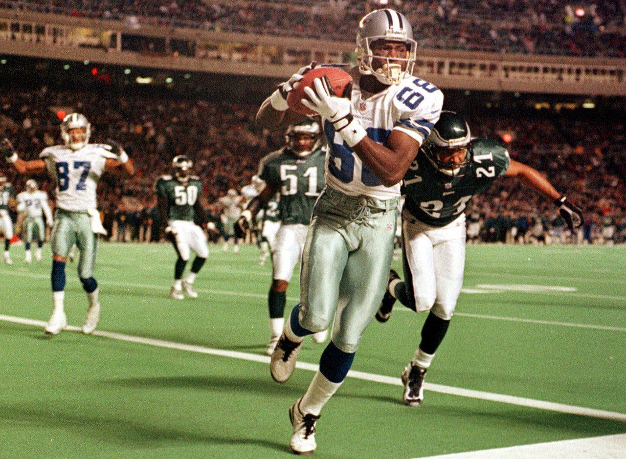 Michael Irvin was the playmaker for the Cowboys. He might not have put up the gaudy touchdown numbers of some of his contemporaries, but Irvin always made the big plays.