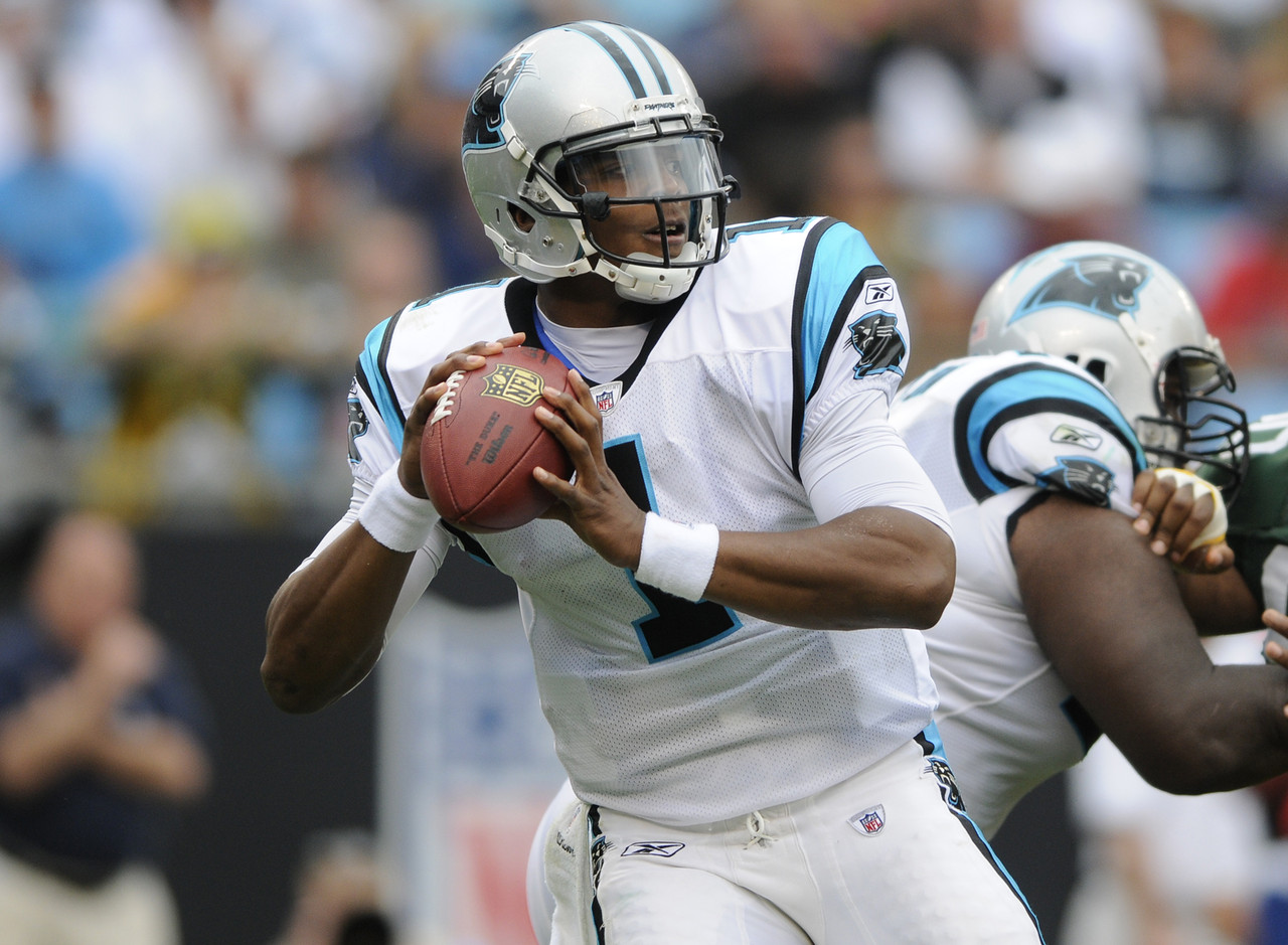 For Cam Newton fans, the Auburn quarterback's Heisman campaign never ended. Newton picked up right where he left off.  In his first two games with the Carolina Panthers, he managed to accumulate more than 850 yards and five total touchdowns.  Cam took the league by storm and eventually brought home the 2011 Associated Press NFL Offensive Rookie of the Year award.  It's worth noting that Newton's first two games were his highest two consecutive yardage totals (854 total yards and three touchdowns). (AP Photo/Mike McCarn)