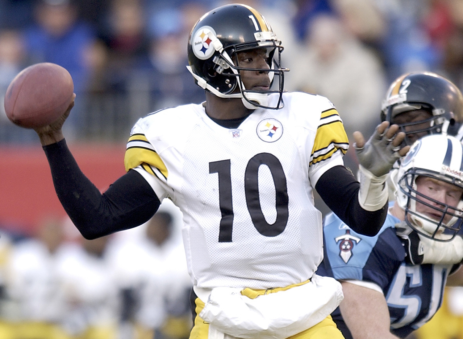 1995 NFL Draft, second round, Pittsburgh Steelers -- Stewart played eight seasons for the Steelers (1995-2002), one season for the Chicago Bears (2003) and two seasons for the Baltimore Ravens (2004-05). He is a one-time Pro Bowl selection, and while performing in a