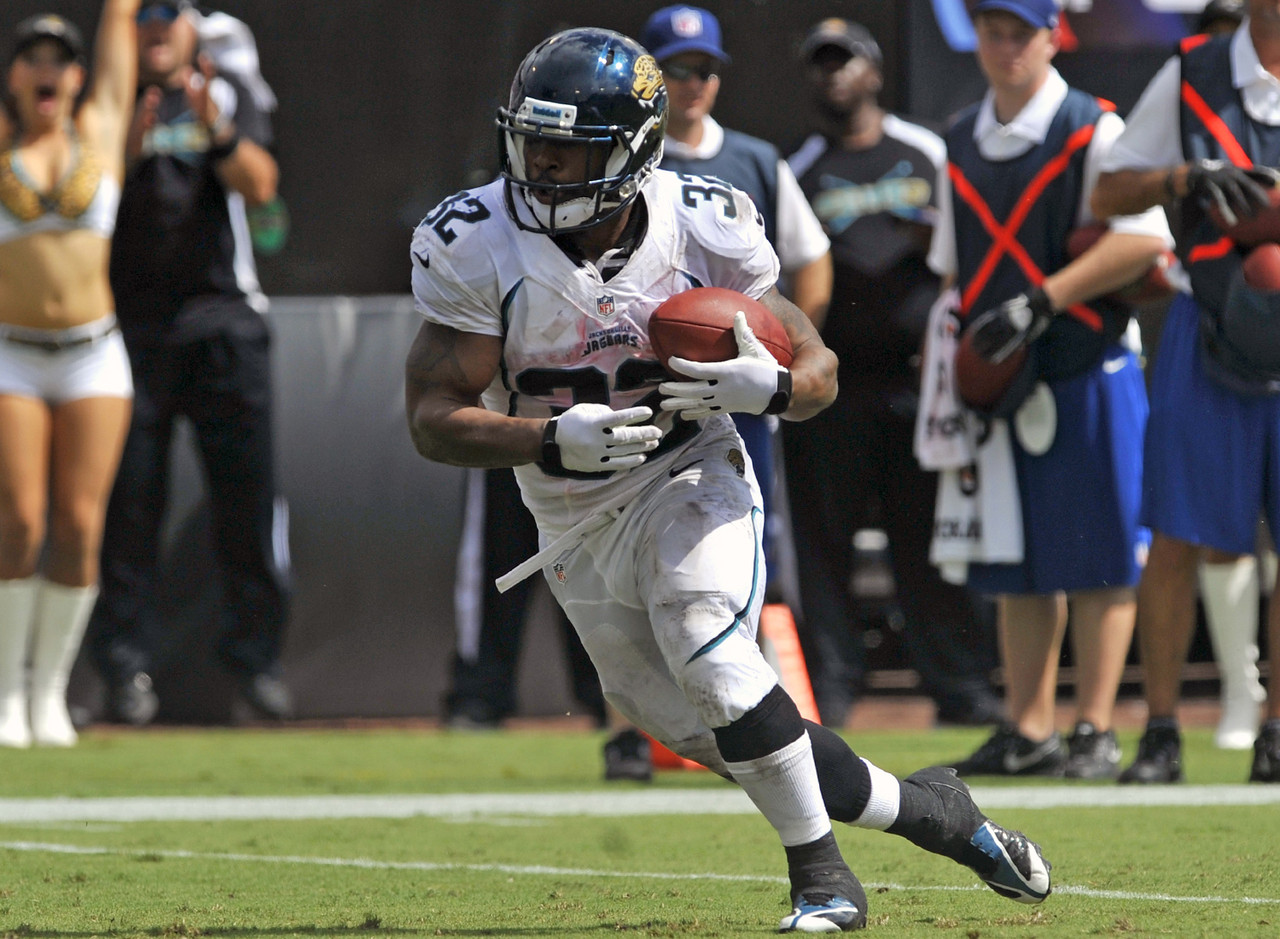 "Jones-Drew had been one of the most durable and reliable running backs in fantasy football. Of course, that was until he held out of training camp and missed 10 games last season with an injured foot. He is expected to be ready for the start of training camp, though, and motivation shouldn't be an issue as ""Pocket Hercules"" is entering a contract year. Still, owners in fantasy land are still a little concerned. (AP Photo/Stephen Morton)"