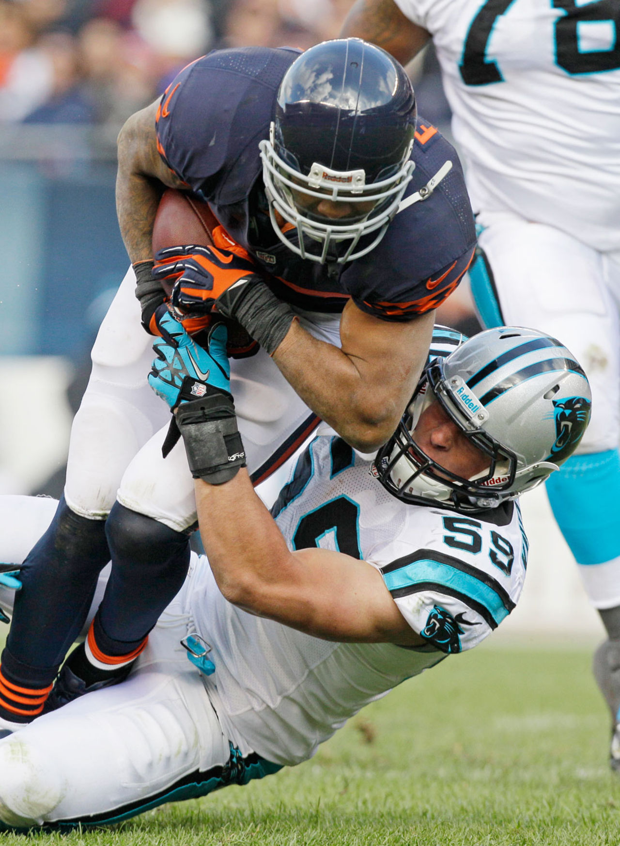 Kuechly was a tackling machine during his days at Boston College, a trait that transferred over to his rookie season in the NFL. As the man in the middle of a defense short on playmakers, the second-year linebacker is poised to be star at linebacker, both for the Panthers and fantasy owners.