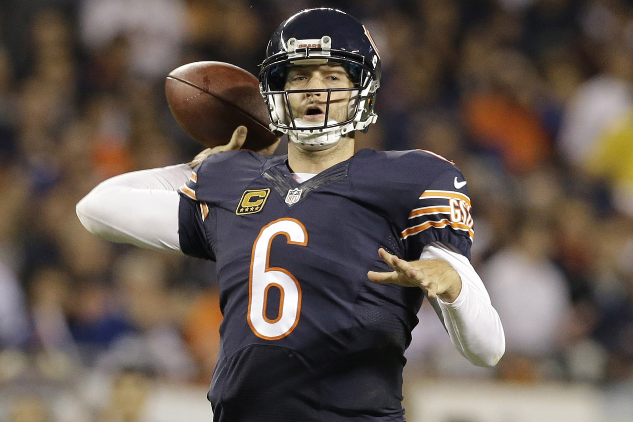 It's time to give Cutler some love in fantasy land. After a few mediocre seasons in Chicago, he's been reborn in the stat sheets under new coach Marc Trestman. He's failed to score 17-plus fantasy points just once in six games, and this week's matchup against the Washington Redskins is more than favorable. He's once again in the mix as a legit No. 1 option in most leagues.